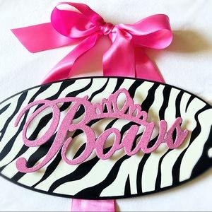 Metal Zebra Bow Holder